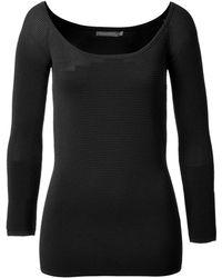 Donna Karan New York 3/4 Sleeve Top - Lyst