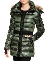Sam. Fur Sundance Down Coat - Bloomingdale's Exclusive - Green