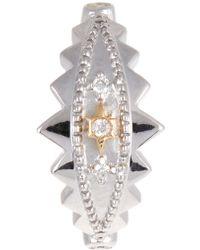Elise Dray   Diamond & White-gold Khalessi Single Ear Cuff   Lyst