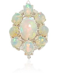 Sutra - White Opal And Diamond Ring - Lyst
