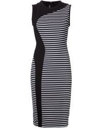 Yigal Azrouel Striped Fitted Dress - Lyst