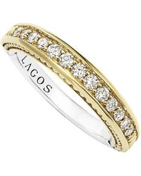 Lagos | Diamond Channel Stacking Ring | Lyst