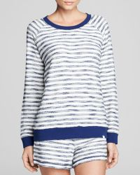 Honeydew Intimates - Striped French Terry Sweatshirt - Lyst