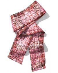 COACH Printed Tweed Ponytail Scarf - Pink