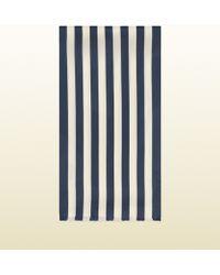 Gucci Striped Silk Crepe Scarf - Lyst