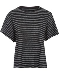 Rag & Bone Black Robin Stripe T-Shirt - Lyst