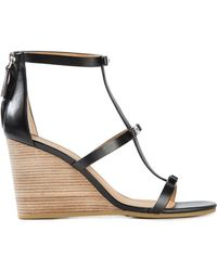 Marc By Marc Jacobs Bow Detailing Wedge Sandals - Lyst