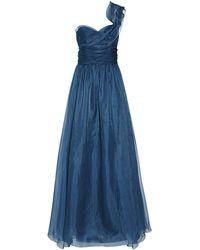 Marchesa One Shoulder Organza Gown - Lyst