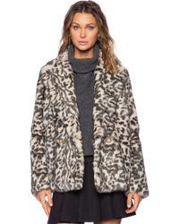 Theory Lianamar Sociable Fur Jacket - Lyst