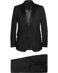Berluti Black Slim-fit Wool and Mohair-blend Tuxedo - Lyst