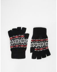 Glen Lossie - Lambswool Fair Isle Fingerless Gloves - Lyst