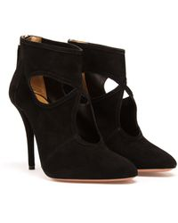Aquazzura Suede Sexy Thing Ankle Boot - Lyst