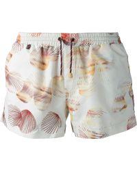 Missoni Scallop Print Swim Shorts - Lyst