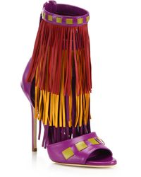 Brian Atwood | Abby Fringed Leather Sandals | Lyst