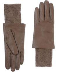 Furla Khaki Gloves - Lyst