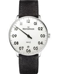 Meistersinger - Nq901n Neo Q Stainless Steel And Leather Watch - Lyst