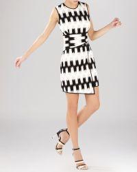 BCBGMAXAZRIA Dress - Alivia Wrap Waist Asymmetric - Lyst