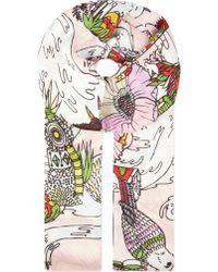Mary Katrantzou Poppy-Print Scarf - Lyst
