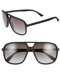 Gucci 60Mm Aviator Sunglasses - Lyst