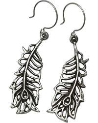 Femme Metale Jewelry Fancy Feathers Earring - Lyst