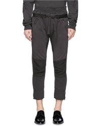 Haider Ackermann | Raw Edge Cuff Cropped Sweatpants | Lyst