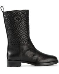 Tory Burch Quilted Ankle Boots - Lyst