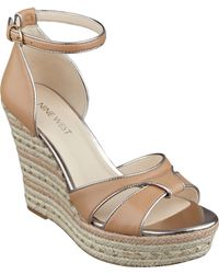 Nine West Jacoby Wedge Sandals - Lyst