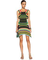 M Missoni Crochet Ruffle Knit Mini Dress - Lyst