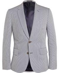 Paul Smith Navy Slim-Fit Gingham Cotton-Blend Blazer - Lyst