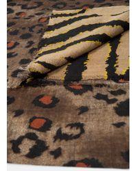 Violeta by Mango Animal Wool Scarf - Natural