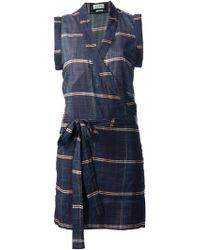 Etoile Isabel Marant Check Wrap Dress - Lyst