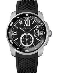 Cartier Calibre De Stainless Steel Diver Watch - For Men silver - Lyst