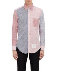 Thom Browne Mixed Seersucker Shirt - Lyst