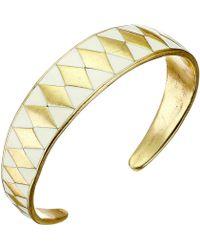 Lucky Brand Gold Enamel Cuff Bracelet - Lyst