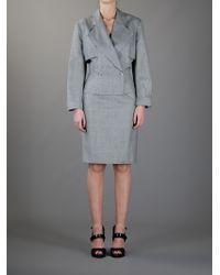 Alaïa Houndstooth Skirt Suit - Lyst