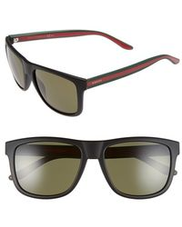 Gucci | 57mm Sunglasses | Lyst