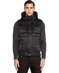 G-star Raw Mfd Hooded Puffer Vest - Lyst