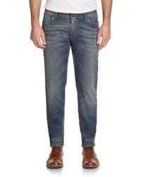 Dolce & Gabbana Distressed Slim-leg Jeans - Lyst