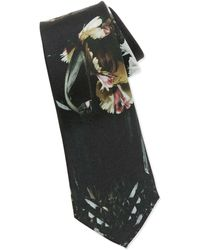 Alexander McQueen Floral-print Silk Tie - Lyst