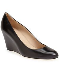 Via Spiga 'Darby' Covered Wedge Almond Toe Pump - Lyst