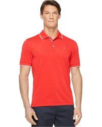 Calvin Klein Core Tipped Pique Polo red - Lyst
