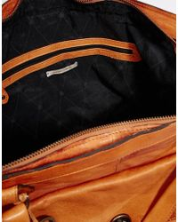 Pieces - Leather Travel Bag - Lyst