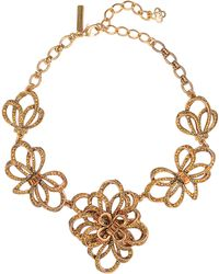 Oscar de la Renta Goldtone Bow Frontal Necklace - Lyst