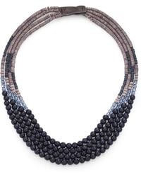 Peserico Long Beaded Necklace - Blue