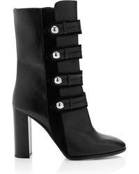 Isabel Marant Black Calf Leather Arnie Brandenburg Boots