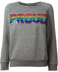 Ashish Gray Proud Sweatshirt - Lyst