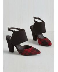 BC Footwear - Steppin' Haute Heel In Red Plaid - Lyst