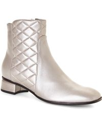 Aquatalia by Marvin K Silver Lola Ankle Boots - Lyst