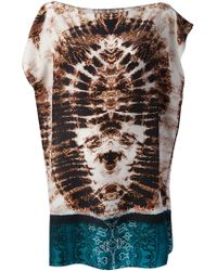 The Textile Rebels - Tiedye Mixed Print Tunic Top - Lyst