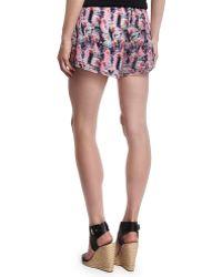 Prabal Gurung Layered-hem Chiffon Shorts - Pink